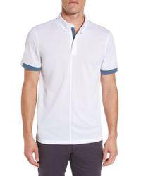 AG Jeans | Eastridge Zip Placket Polo | Lyst