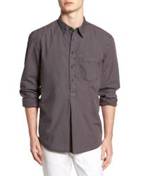 French Connection - Regular Fit Poplin Sport Shirt - Lyst