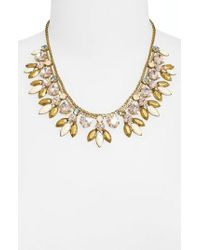 Sorrelli - Metal & Crystal Bib Statement Necklace - Lyst