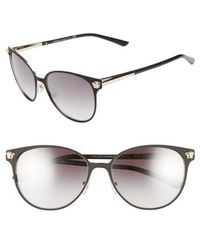 6e716d4eab Lyst - Versace  glam  57mm Medallion Temple Sunglasses in Black