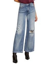 Habitual - Rania High Rise Wide Leg Ripped Nonstretch Jeans - Lyst