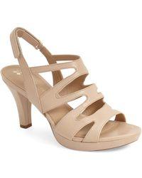 12fa43d813a Lyst - Naturalizer Pressley Platform Dress Sandal in Brown