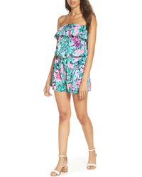312bf671628a Lilly Pulitzer - Lilly Pulitzer Anja Sleeveless Romper - Lyst