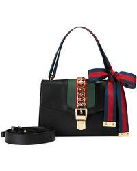 8ec4eda9055 Lyst - Gucci Sylvie Mini Chain Shoulder Bag in Gray