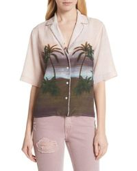 Sandro - Embellished Tropical Top - Lyst