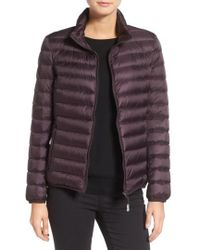 Tumi | 'Pax On The Go' Packable Quilted Jacket, Purple | Lyst