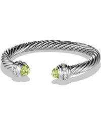 David Yurman - 'cable Classics' Bracelet With Semiprecious Stones & Diamonds - Lyst
