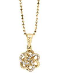 Lagos - 'love Knot' Diamond Pendant Necklace - Lyst