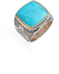 Konstantino - Heonos Square Turquoise Ring - Lyst