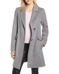 Fleurette - Notch Collar Wool Coat - Lyst