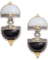 Konstantino - Sterling Silver & Agate Drop Earrings - Lyst