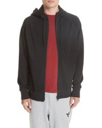 Y-3 - Logo French Terry Zip Hoodie - Lyst