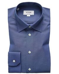 Eton of Sweden - Contemporary Fit Geometric Dress Shirt - Lyst