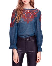 Free People - Everything I Know Cotton Peasant Blouse - Lyst