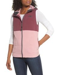 The North Face - Mountain Sweatshirt Insulated Hooded Vest - Lyst