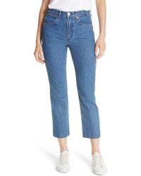 Rag & Bone - High Waist Crop Straight Leg Jeans - Lyst