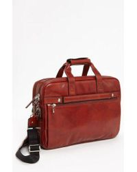 Bosca - Double Compartment Leather Briefcase - - Lyst