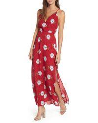 Nordstrom - Surplice Maxi Dress - Lyst