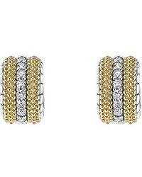 Lagos - Lux Diamond Hoop Earrings - Lyst