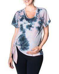 5b5b2bd945a17 Bun Maternity - Cloud Nine Tie Dye Tie Front Maternity/nursing Top - Lyst