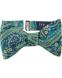 Ted Baker - Floral Silk Bow Tie - Lyst