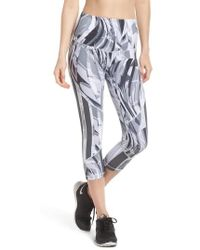 Zella - Sheer To There High Waist Crop Leggings - Lyst