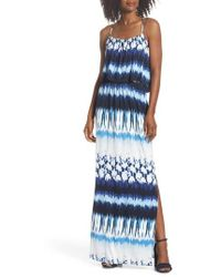 Felicity & Coco - Lilah Popover Maxi Dress - Lyst