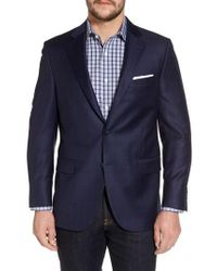 Peter Millar - Classic Fit Windowpane Wool Sport Coat - Lyst