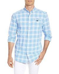 Vineyard Vines - South Shore Harbor Regular Fit Plaid Performance Sport Shirt - Lyst