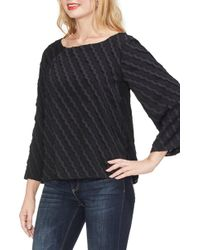 Vince Camuto - Clipped Scallop Stripe Top - Lyst
