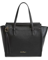 Ferragamo - Large Amy Leather Tote - - Lyst