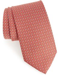 Ferragamo - Gancini Print Silk Tie - Lyst
