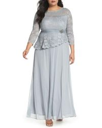 Decode 1.8 - Asymmetrical Lace Bodice Gown - Lyst
