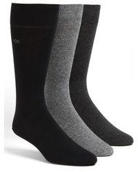 Calvin Klein - Assorted 3-pack Socks, Black - Lyst