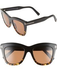 675b490b16d Lyst - Tom Ford  jack  51mm Sunglasses - Shiny Black in Black