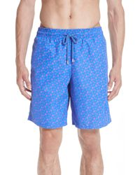 b976a10bfa Vilebrequin Meperfo Laser Cut Turtle Swim Trunks in Blue for Men - Lyst