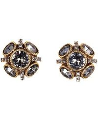 Oscar de la Renta | 'classic Button' Stud Earrings | Lyst