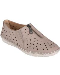 Earth - Earth Callisto Perforated Zip Moccasin - Lyst