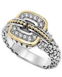 Lagos - 'cushion' Small Diamond Ring - Lyst