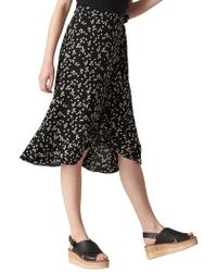 Whistles - Print Frill Wrap Skirt - Lyst
