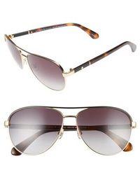 Kate Spade - Emilyann 59mm Aviator Sunglasses - Lyst