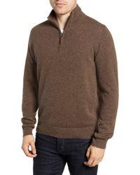 Nordstrom - Regular Fit Cashmere Quarter Zip Pullover - Lyst