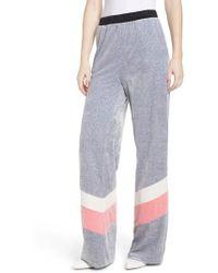 Juicy Couture - Colorblock Velour Wide Leg Pants - Lyst