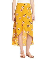 Soprano - Floral Surplice Skirt - Lyst