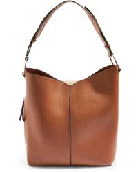 TOPSHOP - Hettie Faux Leather Hobo Bag - Lyst