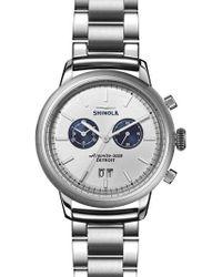 Shinola - Bedrock Chronograph Bracelet Watch - Lyst