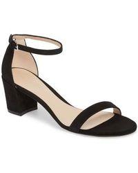 Stuart Weitzman - Simple Ankle Strap Sandal - Lyst