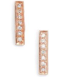 Dana Rebecca   'sylvie Rose' Diamond Bar Stud Earrings   Lyst