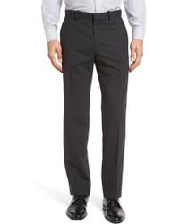 Theory - Marlo New Tailor 2 Flat Front Solid Stretch Wool Trousers - Lyst
