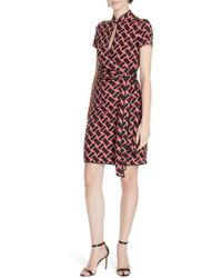 Diane von Furstenberg - Jovie Basketweave Print Silk Jersey Dress - Lyst